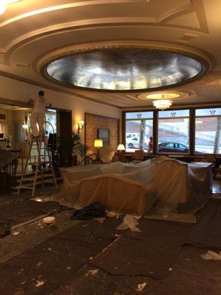 Pintura Gran salón Recepciones Gran Hotel