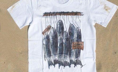 Camisetas pintadas a mano de Zahara
