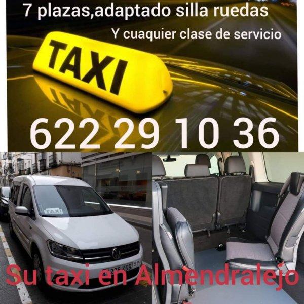 Taxi 7 plazas y adaptado Almendralejo