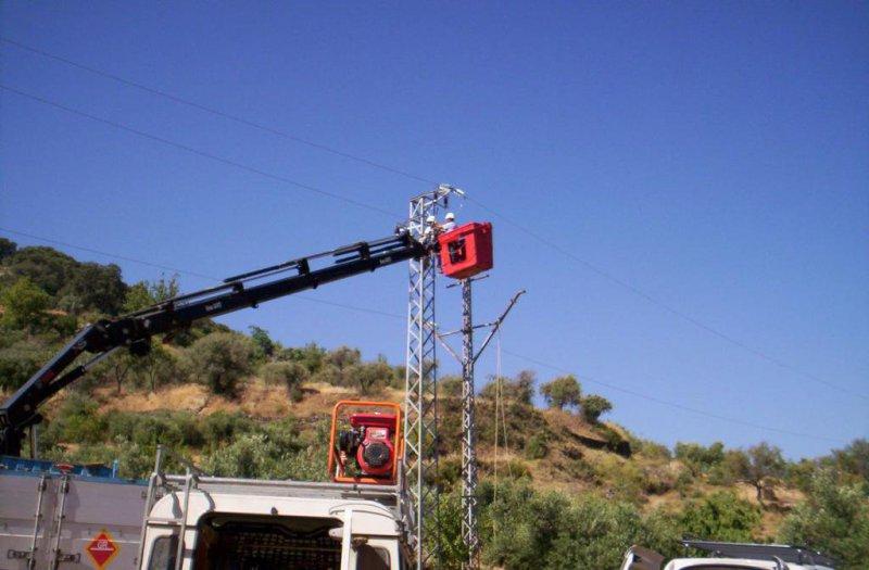 Electricistas en Málaga: estaciones base para Telefónica Móviles