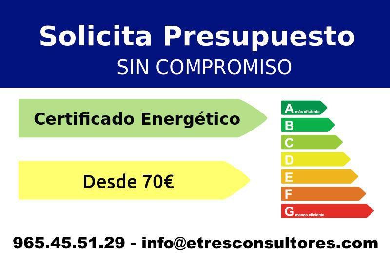 Oferta certificado energético