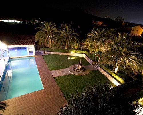 Fotografia nocturna del jardin