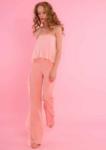 Mono en rosa palo, de la prestigiosa firma italiana Lunatic. La clave de la sencillez está en la elegancia. Ideal para ceremonias. Ya casi agotado.