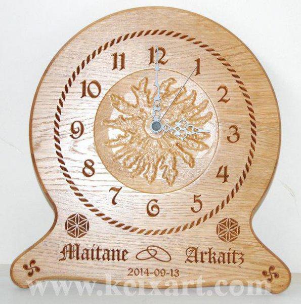 Regalo de Boda Reloj personalizado para los novios