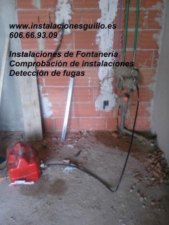 Comprobación de instalaciones de agua