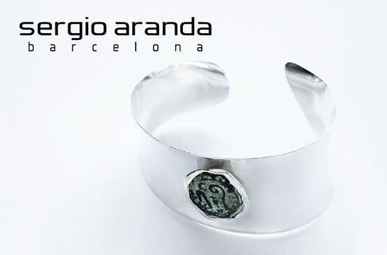 Brazalete en plata y moneda romana / silver sterling cuff with antique roman coin