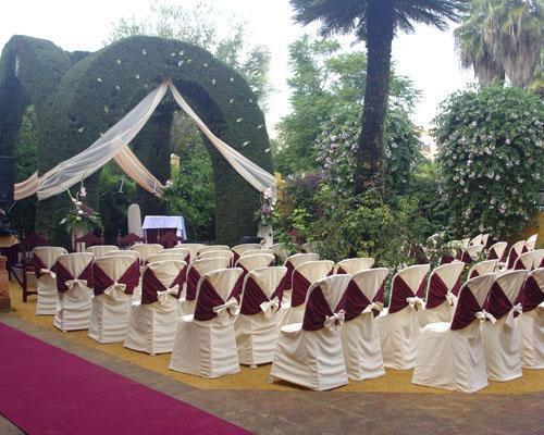 Montaje para la ceremonia