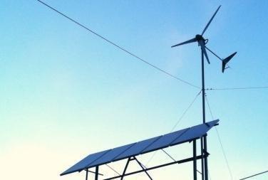 Instalacion solar fotovoltaica y eolica.