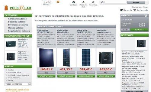 Tienda online de PULSOLAR SL