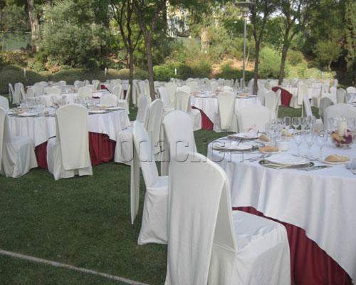 Celebración del banquete en los jardines