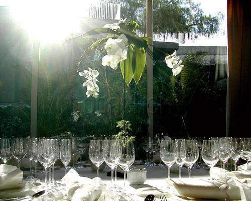 Detalle de mesa de banquete