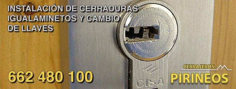 Instalación y cambio de cerraduras y bombines en Huesca