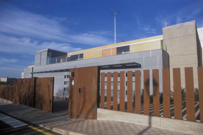 Entrada de la  clínica en Tacoronte.Tenerife