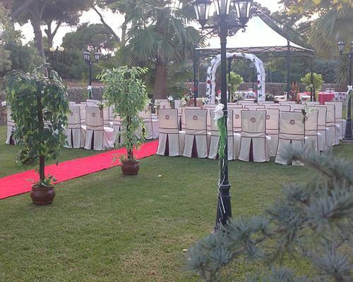 Cafeteria para recibir a los invitados a la boda