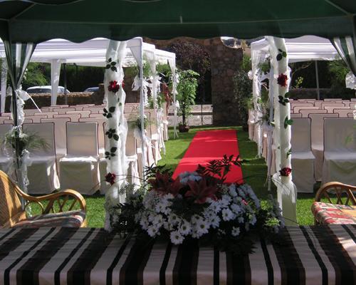 Detalle de la mesa de ceremonia