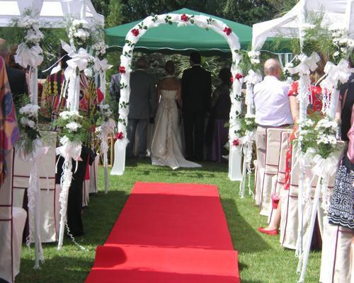 Montaje de ceremonia civil
