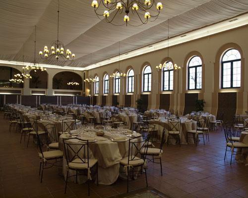 Salon interior con gran capacidad