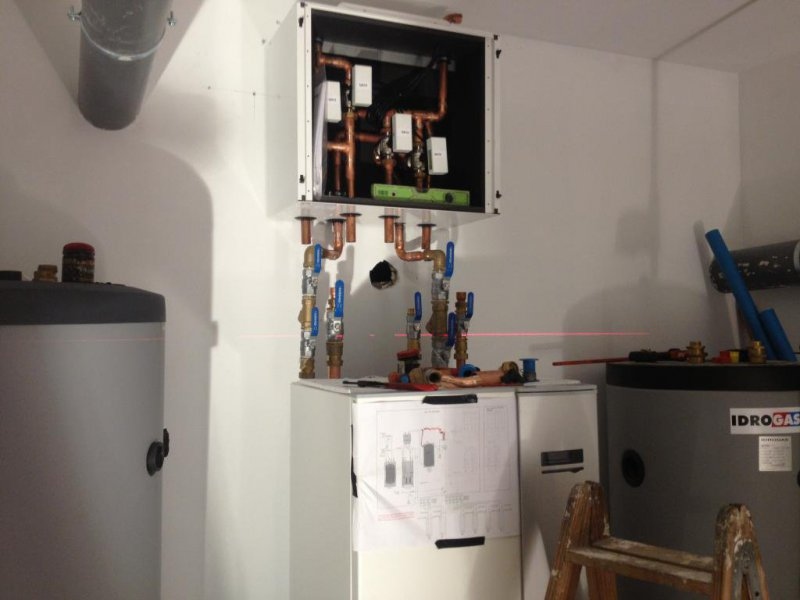 Planteamiento de equipos en sala de geotermia