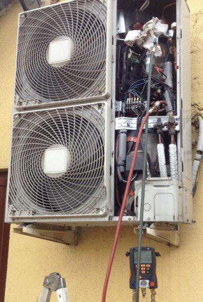 Comprovación de aire acond