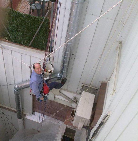 Trabajo vertical en St. Vicenç dels Horts