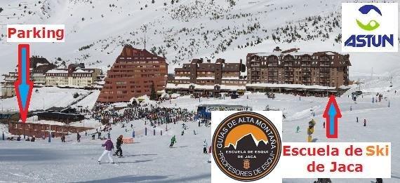 Ubicación de la Escuela de Esquí de Jaca en Astún