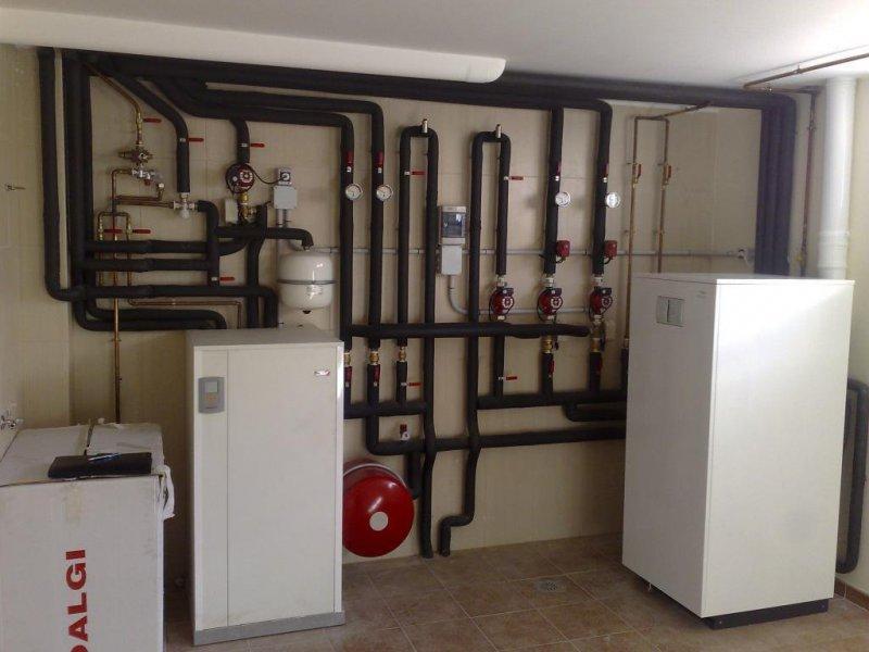 Instalacion de caldera de gas y energía solar