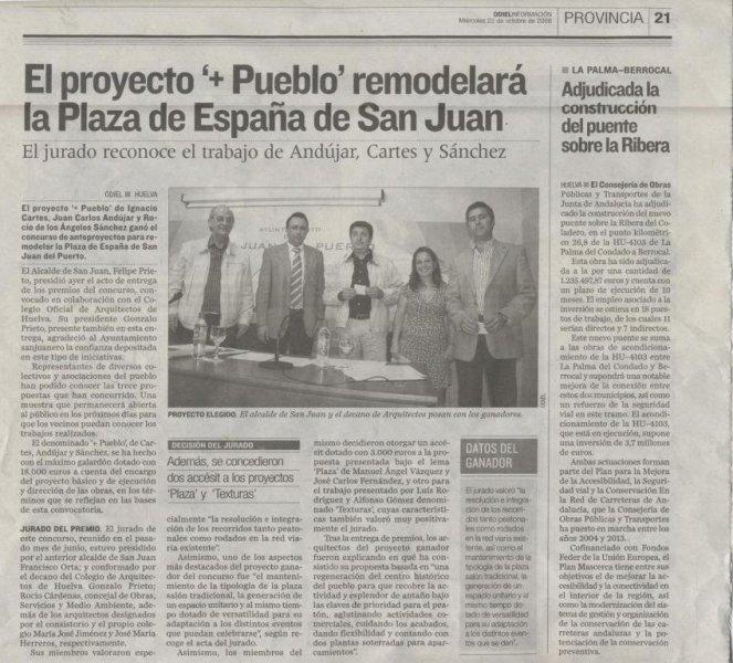 Premio proyecto +Pueblo de San Juan del Puerto