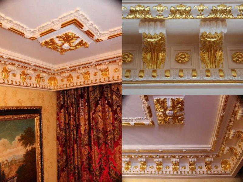 apartamento puerto banús. molduras en oro puro
