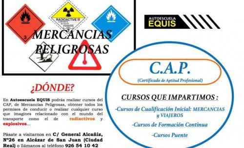 cursos del CAP de mercancias y viajeros