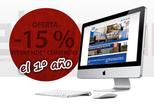 Descuento del 15% en nuestras páginas web para comercios