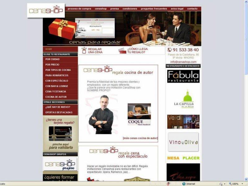 Elíge el restaurante que quieras regalar en nuestra web