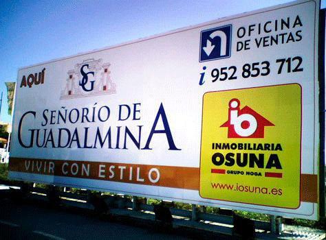 Pubext, rotulación para exteriores en Málaga: vallas y monopostes