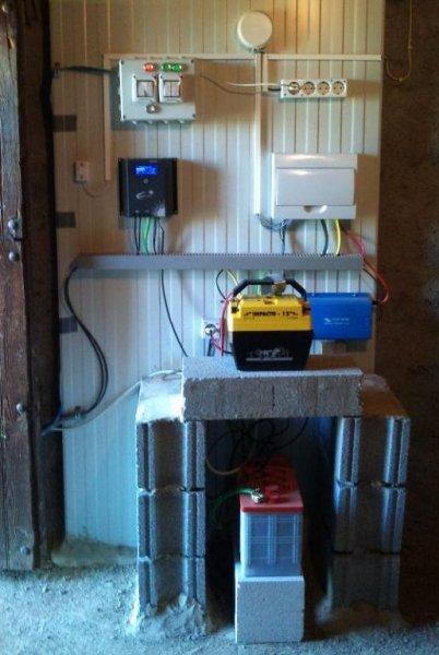 Instalación aislada para invernadero y cabaña (interior).