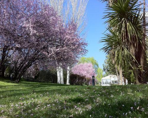 Con preciosos jardines para disfrutar al aire libre