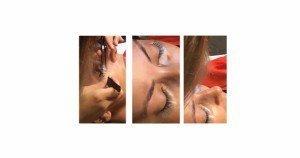 Extensiones de pestañas efecto seda