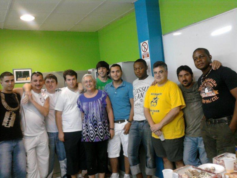 Algunos alumnos y profes