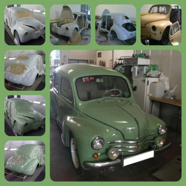 Proceso de restauración de un Renault 4CV