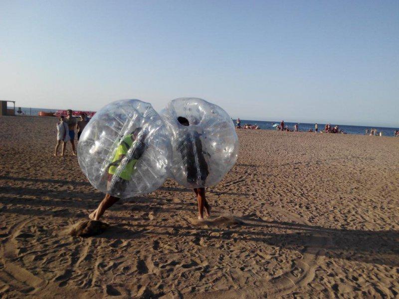 Sumo en la playa de Dénia