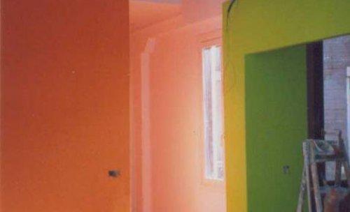Pintado liso mate con contraste de colores.