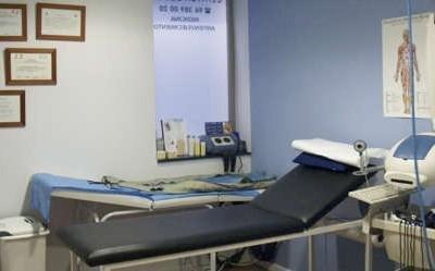 Sala de reconocimientos medicos Clínica Suecia