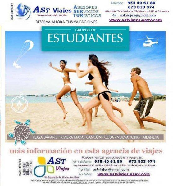 AST VIAJES - GRUPOS ESTUDIANTES 2014