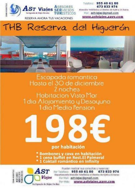 AST VIAJES - OFERTON HOTEL RESERVA DEL HIGUERON DESDE 198.- EUROS HABITACION DOBLES - RESERVAS HASTA 30 DICIEMBRE