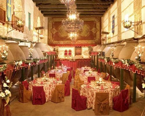 Bodega montada para bodas
