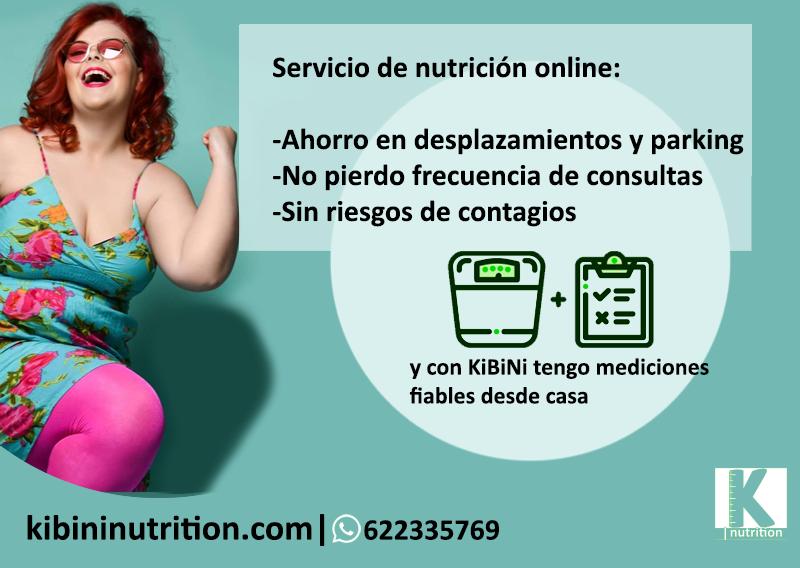 Kibini nutrition es el único servicio que te envía un monitor de medición corporal a domicilio, así ya no hay diferencias con la consulta presencial