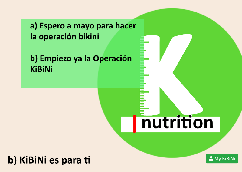 La Operación KiBiNi inculca hábitos de alimentación saludable todo el año. Nada de dietas milagro de última hora.