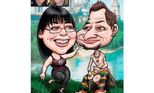 Caricatura estilo comic-dcm