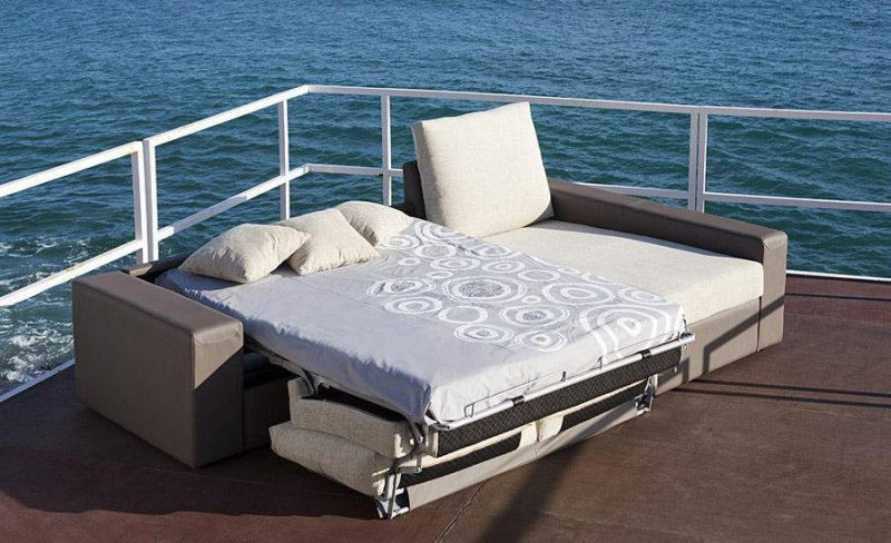 Sofa Cama Sistema Italiano con Chaiselongue