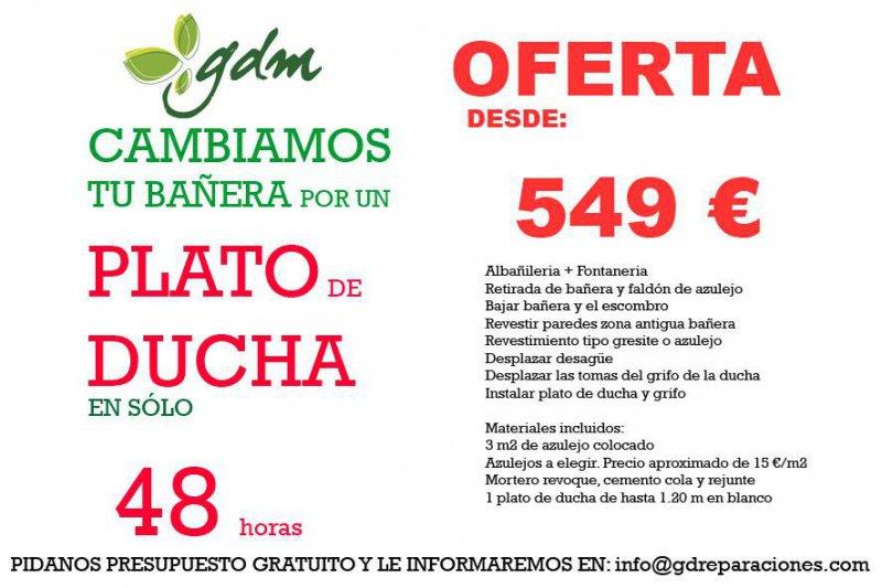 Oferta plato ducha Septiembre / Octubre 2014