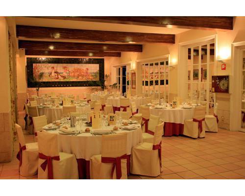 Imagen del salón ametller preparado para una boda