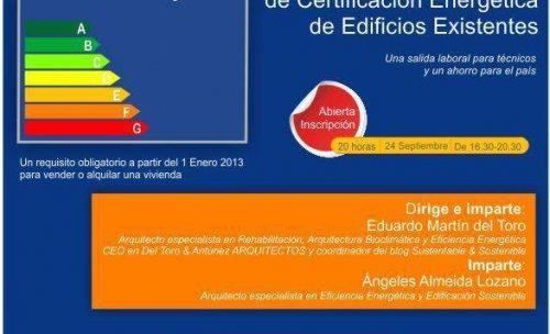 Curso Método simplificado de Certificación Energética de Edificios Existentes